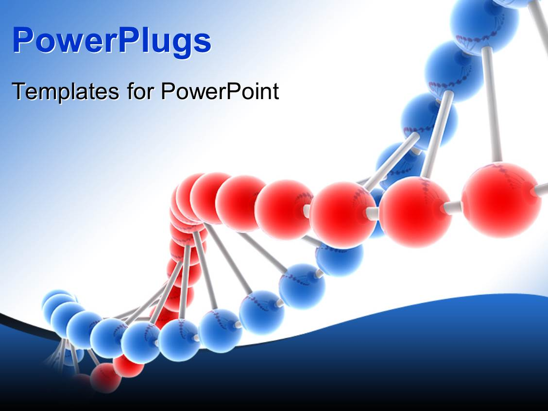 Powerpoint template yellow and purple molecule model on purple powerplugs powerpoint template with 3d genetic molecular dna structure toneelgroepblik Images