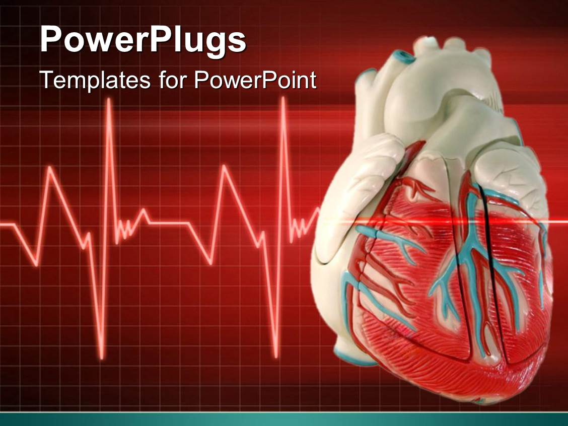 Powerpoint template a 3d heart with an eco cardiogram wave line powerpoint template displaying a 3d heart with an eco cardiogram wave line toneelgroepblik Image collections