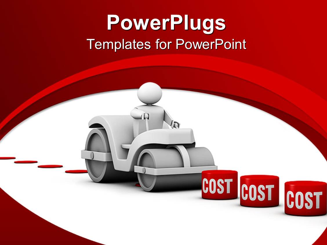 PowerPoint Template: 3D man crushing different blocks of