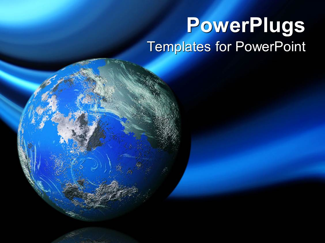 Geography powerpoint templates crystalgraphics beautiful theme enhanced with 3d planet earth globe on blue and black background template size toneelgroepblik Gallery