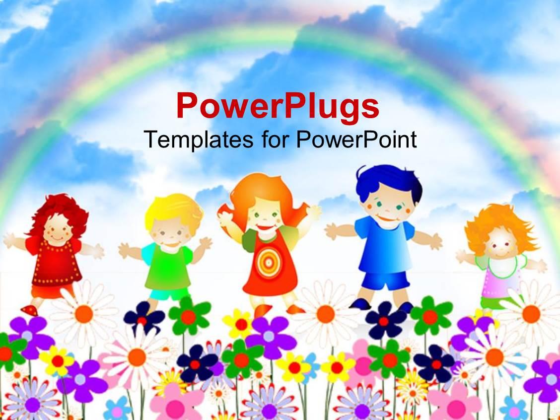 powerpoint template: kids education (255), Presentation templates