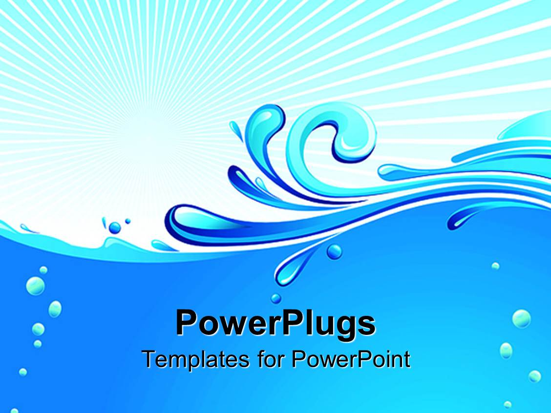 Powerpoint template abstract blue waves water drops on pale powerpoint template displaying abstract blue waves water drops on pale background toneelgroepblik Gallery