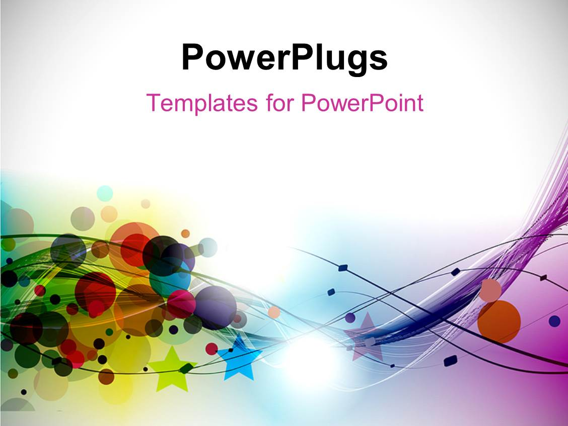 Powerpoint template abstract circles stars and curves with powerpoint template displaying abstract circles stars and curves with different colors toneelgroepblik Gallery