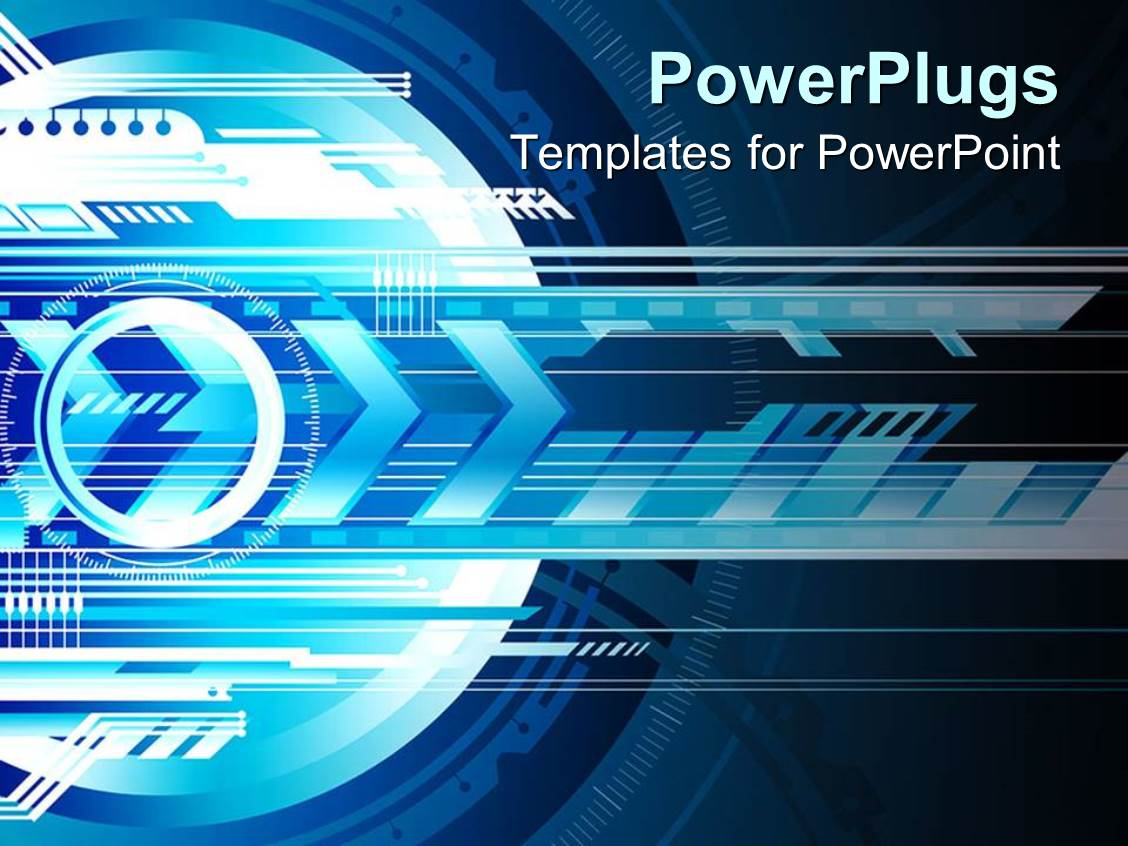 powerpoint template: abstract futuristic depiction of technology, Presentation templates