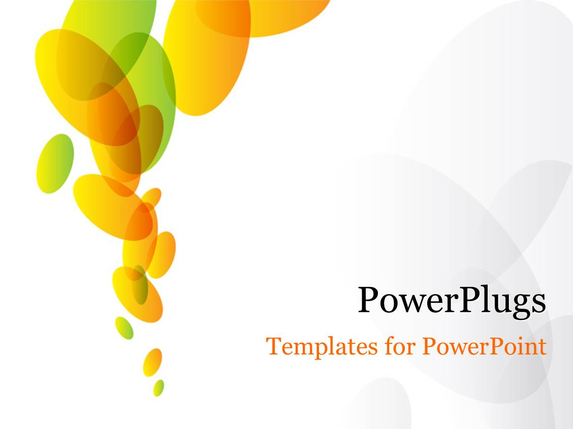 Powerpoint template abstract green and orange ovals on white powerpoint template displaying abstract green and orange ovals on white background toneelgroepblik Gallery