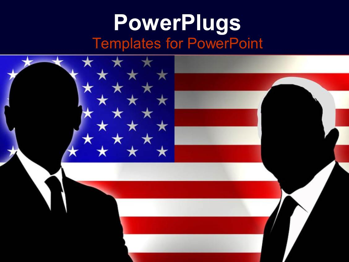 powerpoint template abstract obama and mccain figures with american flag background 11023. Black Bedroom Furniture Sets. Home Design Ideas