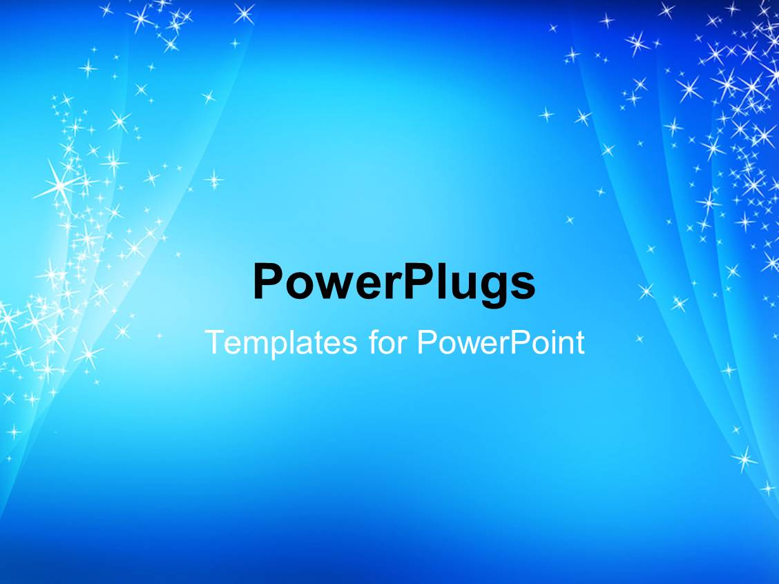 powerpoint template: abstract, simple, cool, blue sparkling, Presentation templates