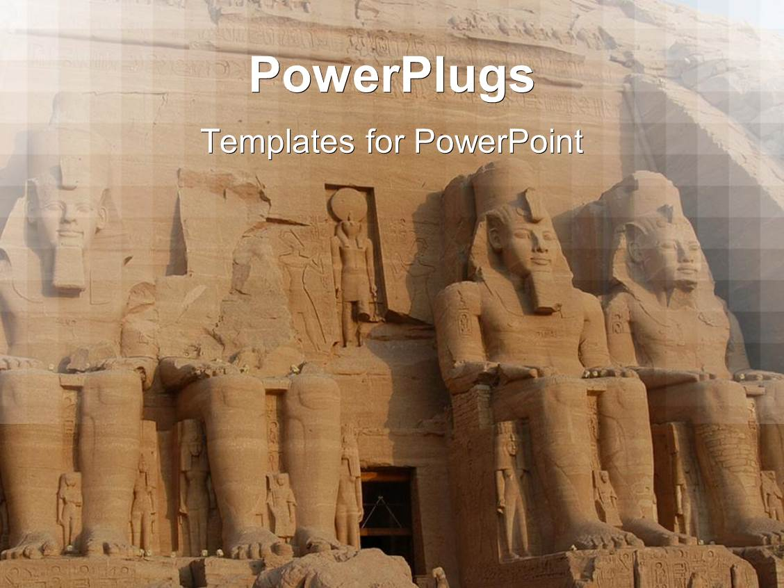 Ancient history powerpoint templates crystalgraphics i love this template having abu simbel colossus egypt ancient statues africa toneelgroepblik Choice Image