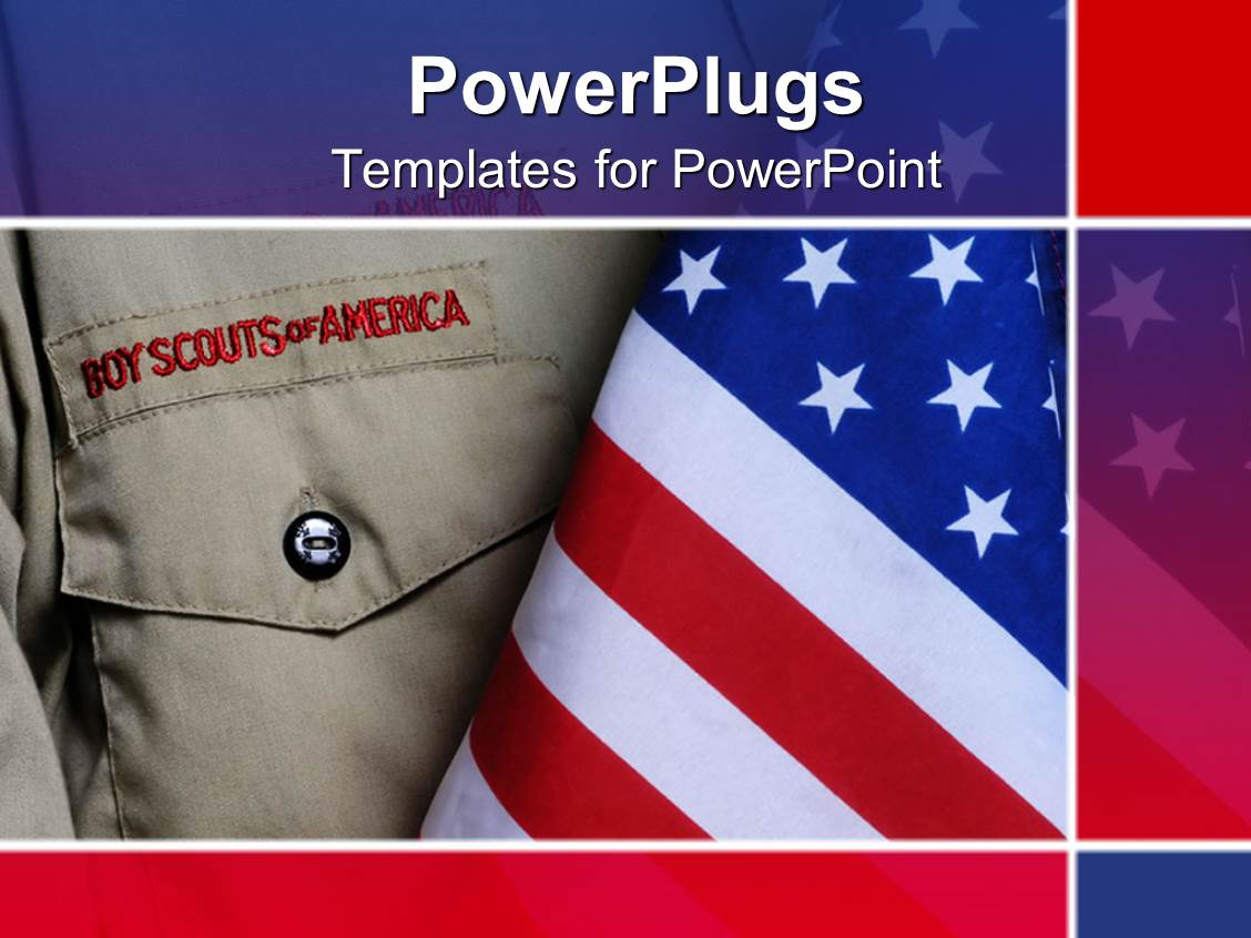 Powerpoint template an american boy scouts outfit along for Cub scout powerpoint template