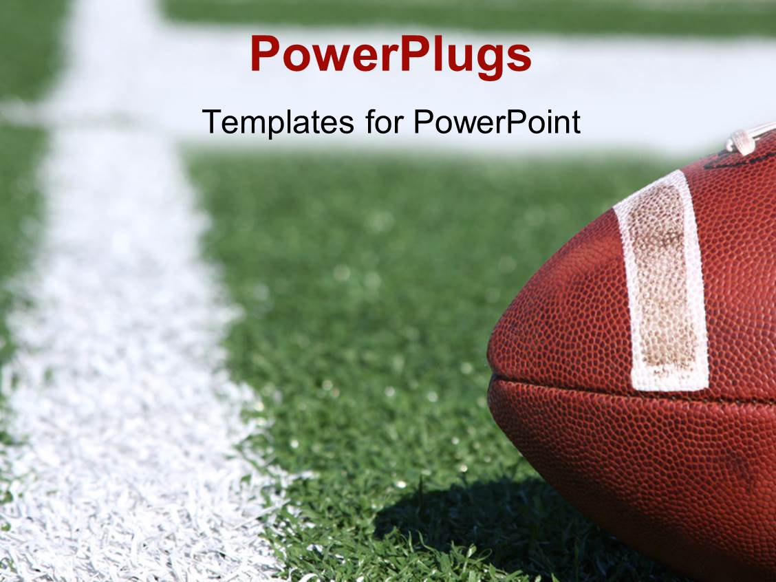 powerpoint template american collegiate football on a