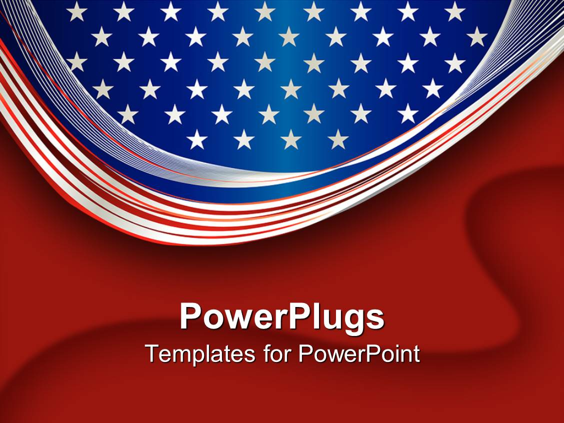 powerpoint template an american flag with bright background 1707. Black Bedroom Furniture Sets. Home Design Ideas
