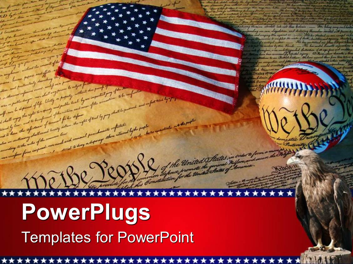 Download American Flag powerpoint template ppt and power