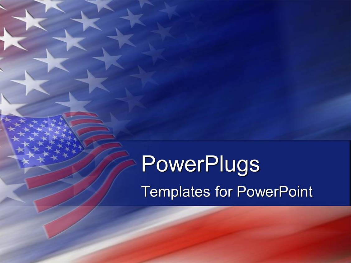 powerpoint template american flag united states god bless