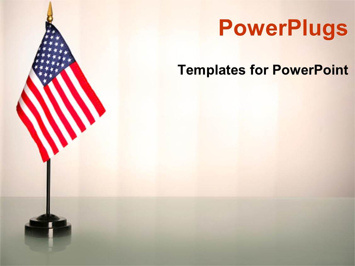 powerpoint template an american flag with white