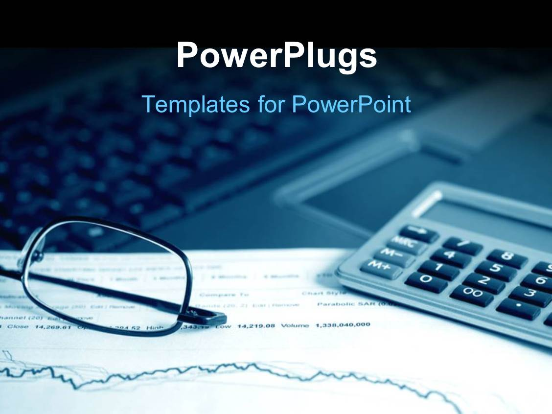 Powerpoint template analysis of the financial information for Stock market ppt templates free download