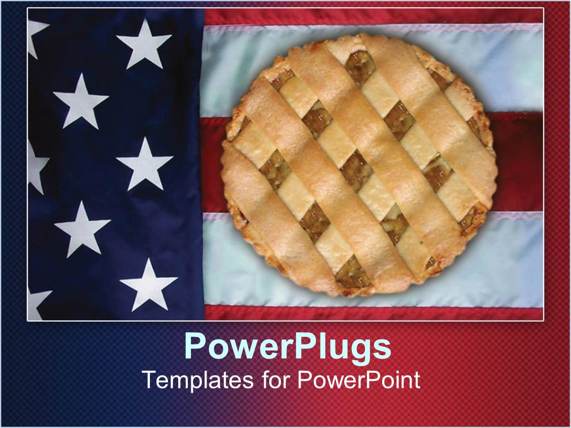Powerpoint template apple pie sitting on american flag 1611 powerpoint template displaying apple pie sitting on american flag toneelgroepblik Images