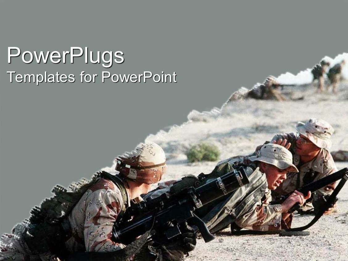 Powerpoint template army at war iraq military camouflage guns powerpoint template displaying army at war iraq military camouflage guns desert on grey background toneelgroepblik Image collections