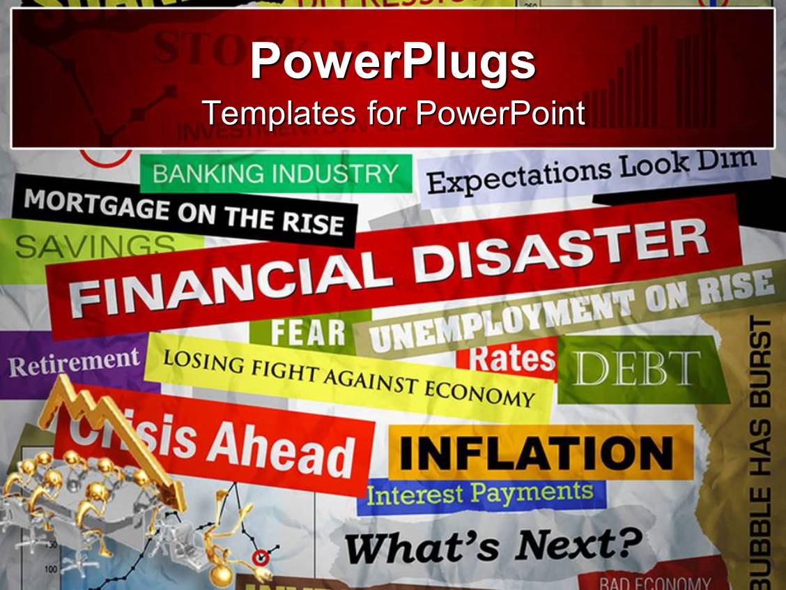Disaster powerpoint templates crystalgraphics amazing presentation consisting of a background full of text related to finance and economics template size toneelgroepblik Image collections
