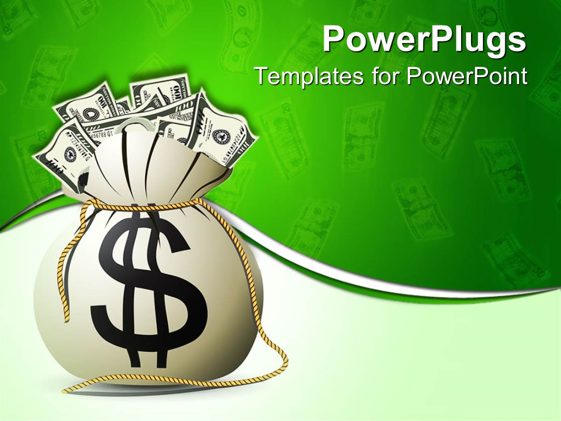 powerpoint template a bag full of money 20651