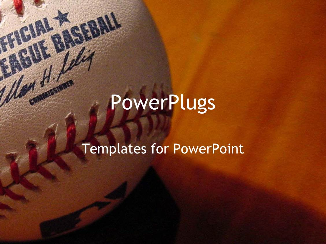 Powerpoint template a baseball in a closeup with brownish powerpoint template displaying a baseball in a closeup with brownish background toneelgroepblik Image collections