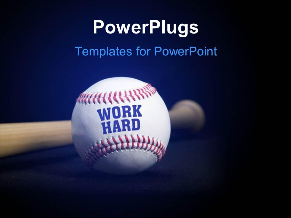 powerpoint baseball award template gallery - powerpoint template, Modern powerpoint
