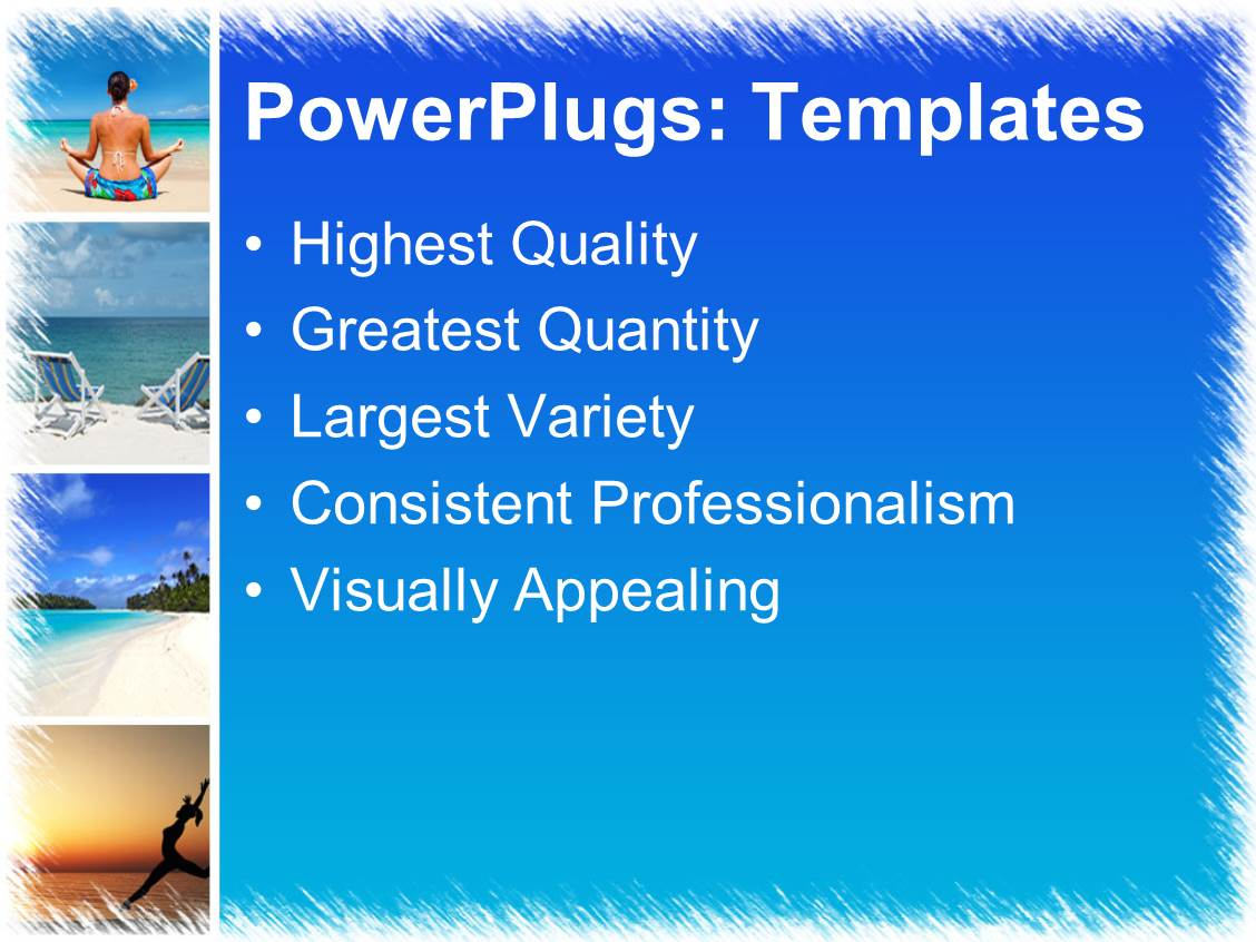Powerpoint Template A Beautiful Depiction Of A Number Of Refreshing Places 21558