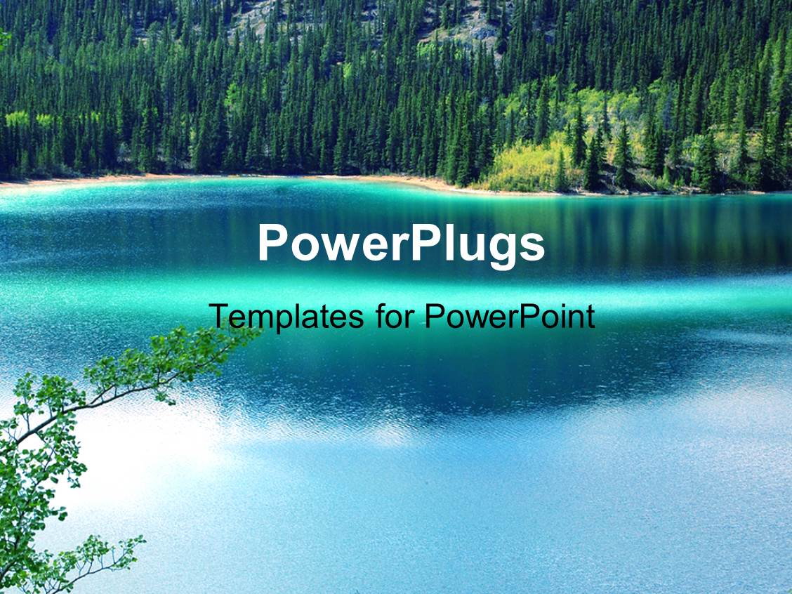 Free powerpoint templates 2529 html free ppt powerpoint templates - Powerplugs Powerpoint Template With A Beautiful Lake With A Number Of Trees