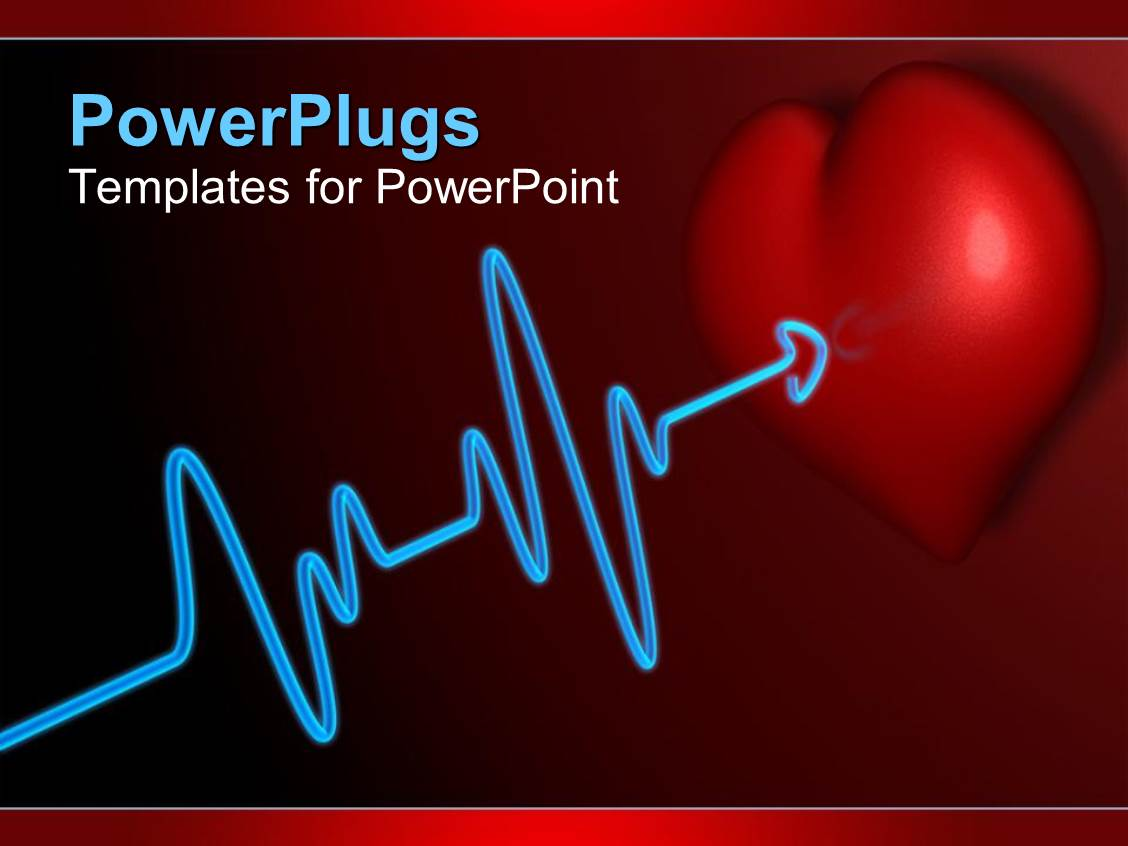 Powerpoint template a beautiful representation of heart for Cardiac ppt template