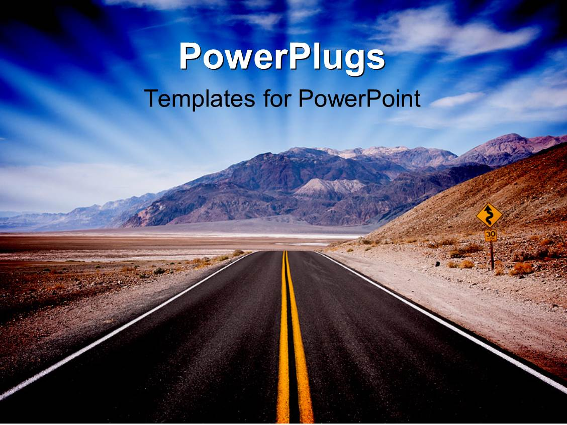 road powerpoint templates | crystalgraphics, Modern powerpoint