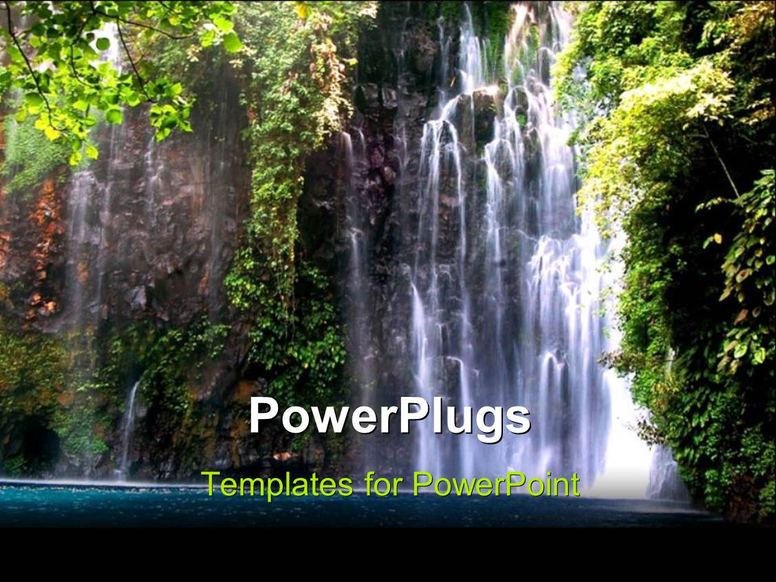 Powerpoint template beautiful scenery of waterfall in the powerpoint template displaying beautiful scenery of waterfall in the philippines toneelgroepblik Image collections