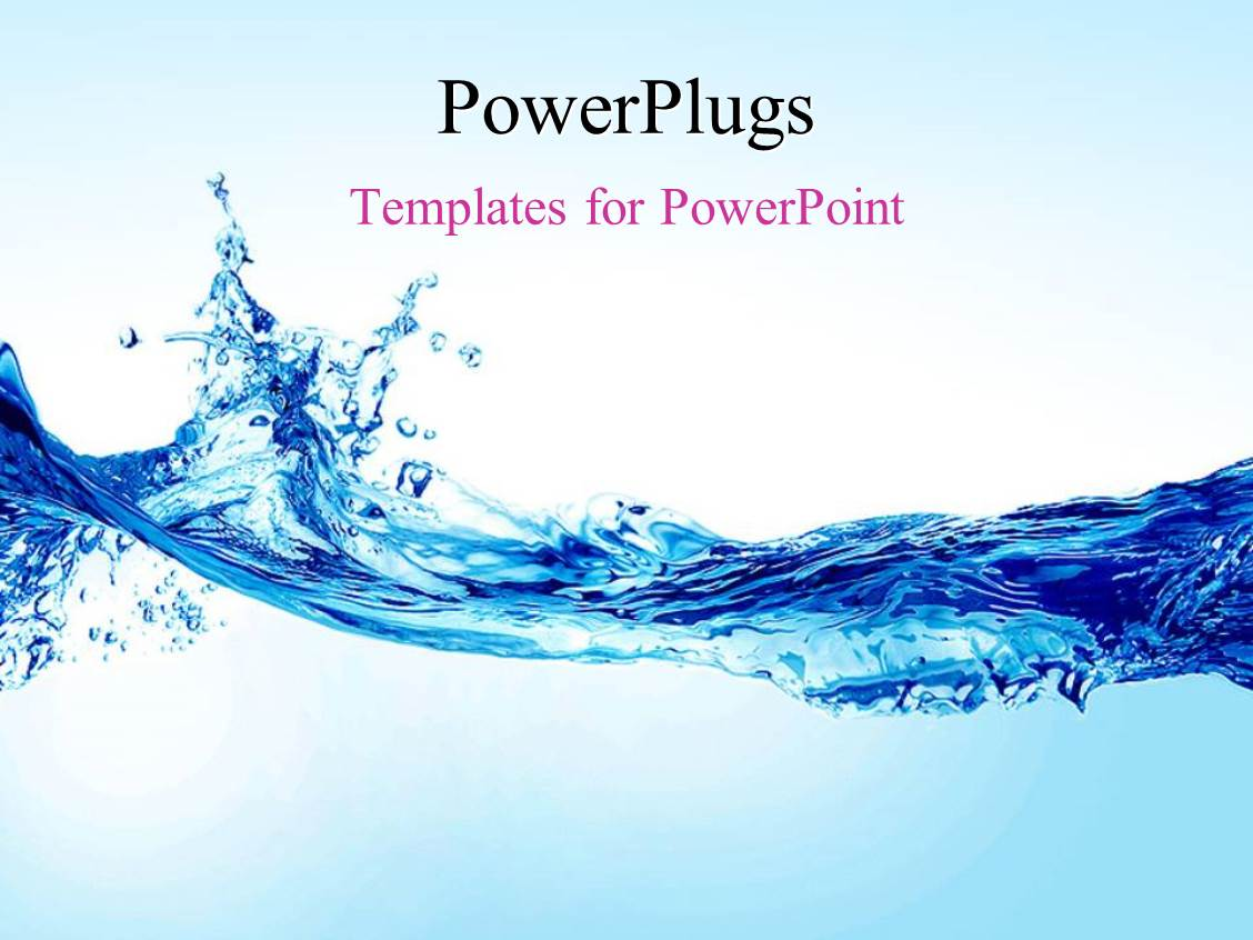 powerpoint template: beautiful splash of water forming shape (30863), Modern powerpoint
