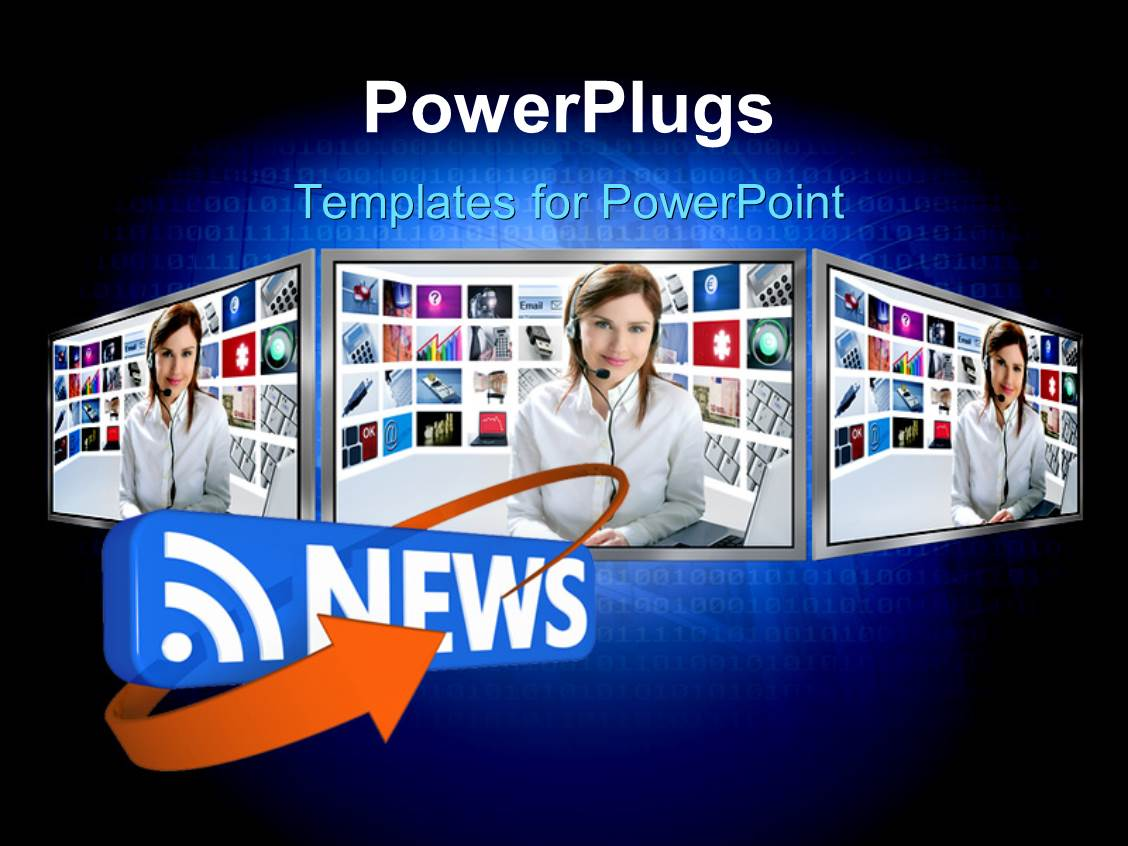 news powerpoint templates | crystalgraphics, Modern powerpoint