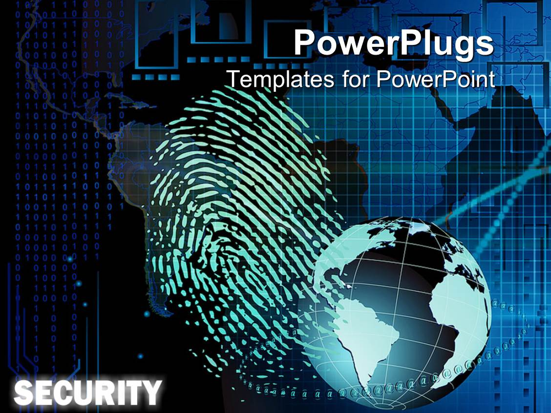 Powerpoint template bio metric security showing fingerprint blue powerpoint template displaying bio metric security showing fingerprint blue globe and binary codes toneelgroepblik Image collections