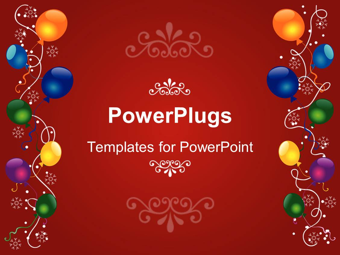 powerpoint template: a birthday celebration with reddish, Powerpoint templates