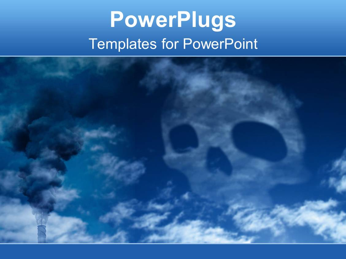 Pollution powerpoint templates crystalgraphics beautiful ppt theme with blue death skull harmful wastes danger for earth template size toneelgroepblik Image collections
