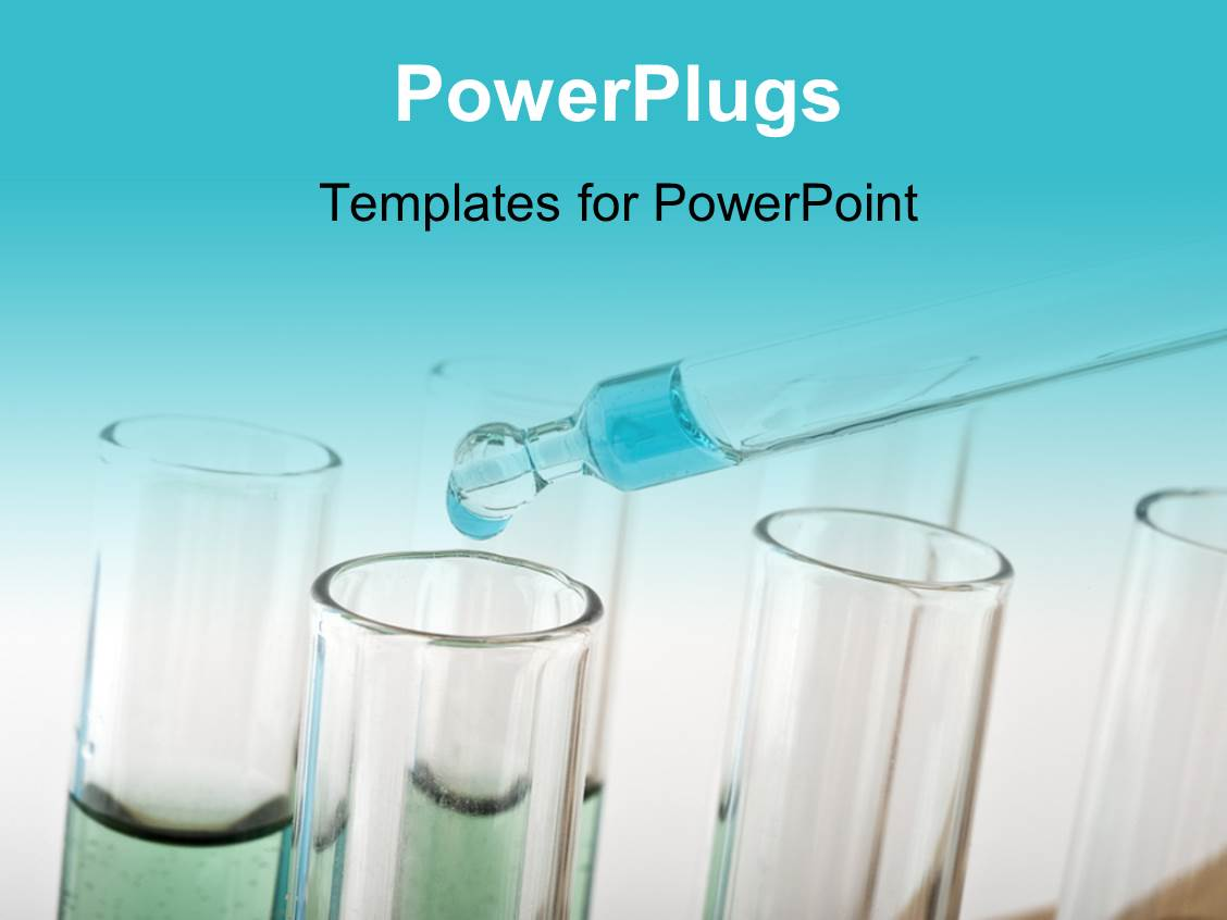Science powerpoint templates crystalgraphics ppt theme enhanced with blue drop from a pipette into test tubes in a science lab template size toneelgroepblik Choice Image