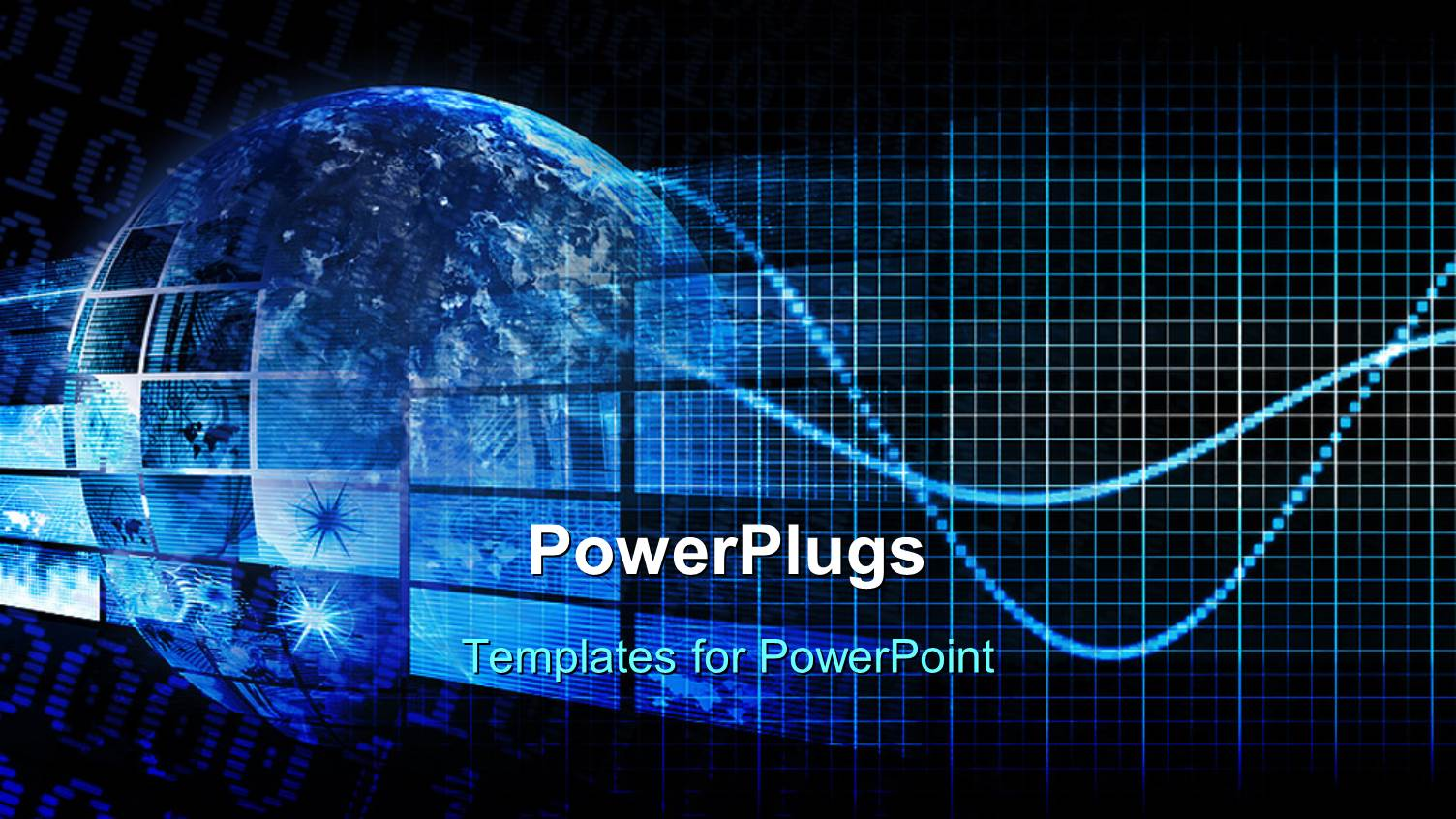 Powerpoint template a blue globe with hi tech images depicting powerpoint template displaying a blue globe with hi tech images depicting technology concept toneelgroepblik Images