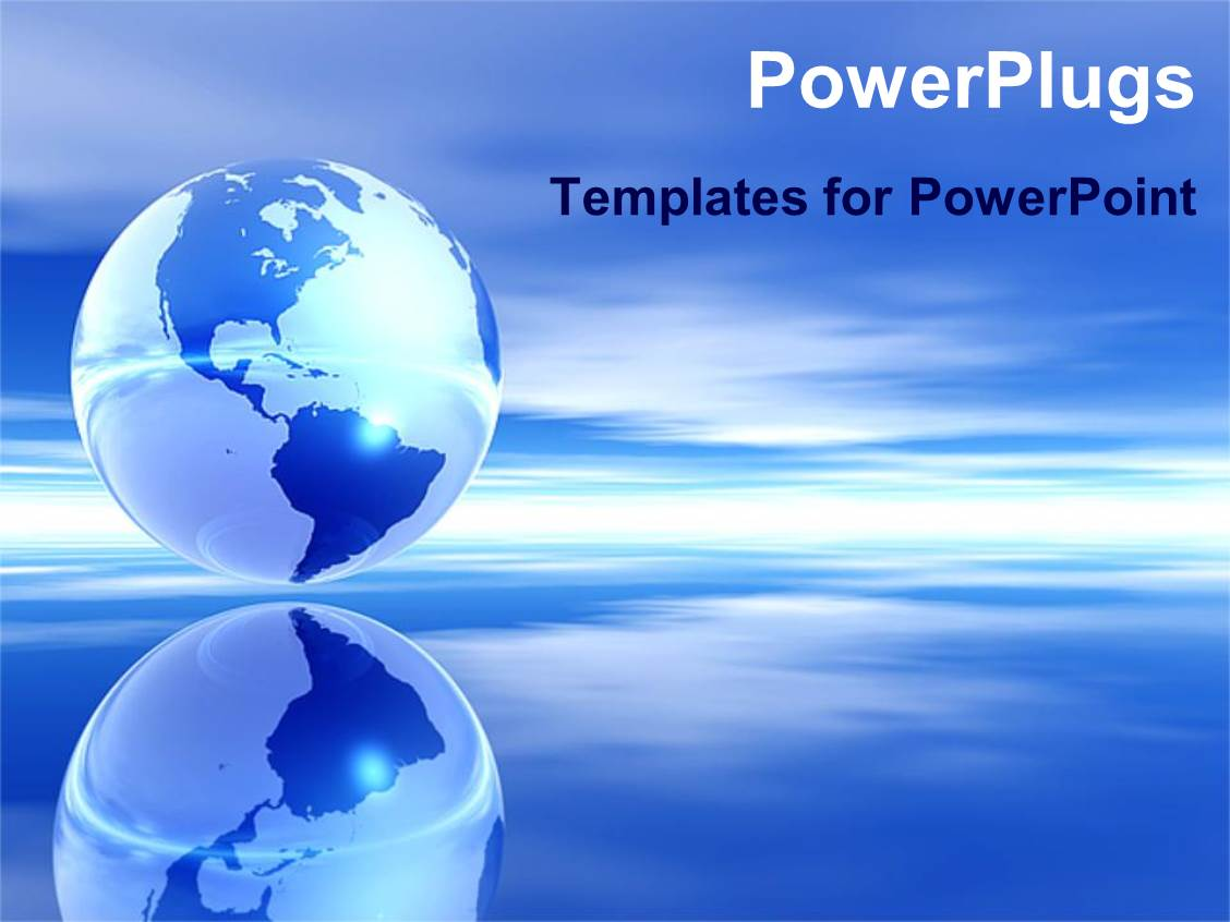 Globe powerpoint templates crystalgraphics audience pleasing slide set featuring blue globe ocean and sky over water template size toneelgroepblik Images