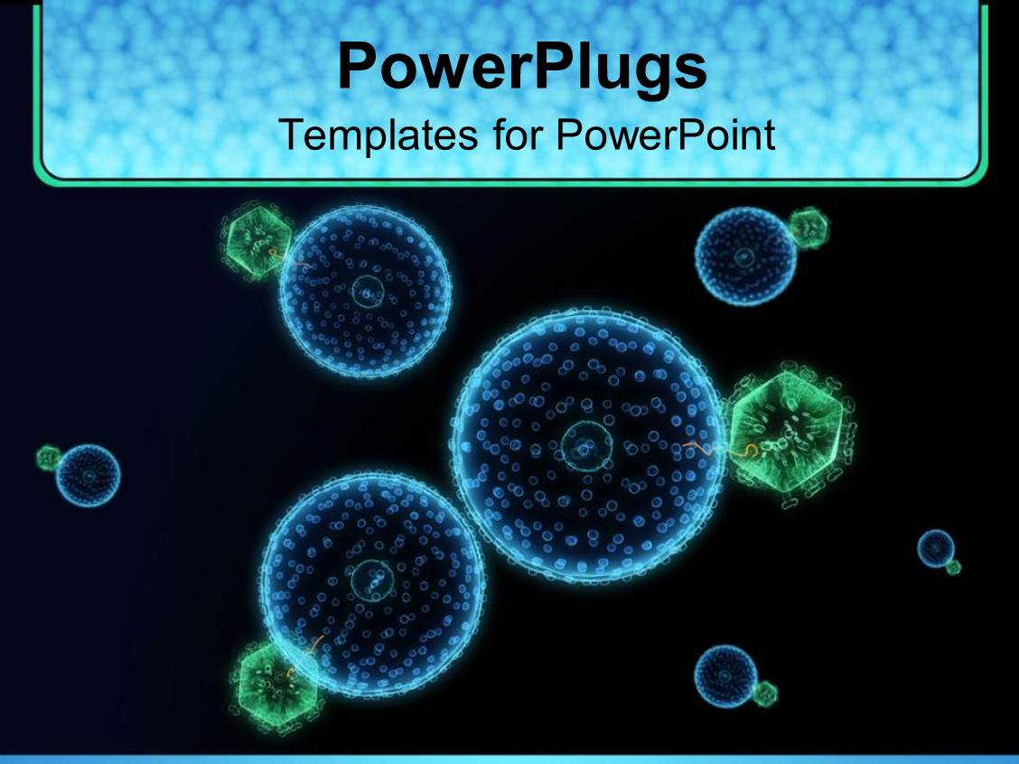 Powerpoint template blue and green hive virus cells with black powerpoint template displaying blue and green hive virus cells with black background medicine toneelgroepblik Gallery