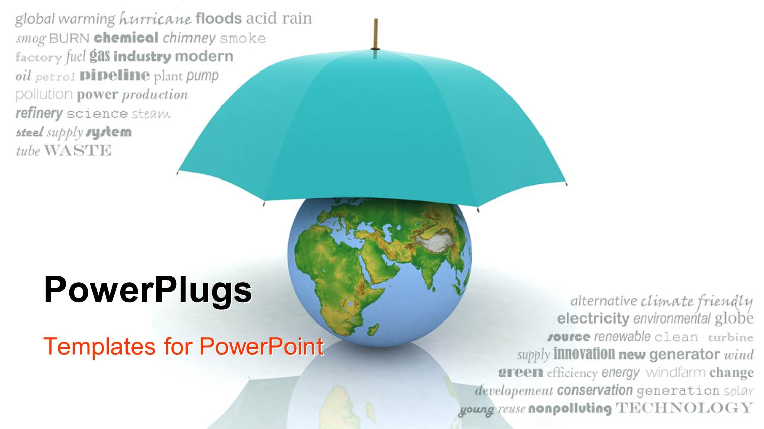 Powerpoint template a blue umbrella protecting the earth 23968 powerpoint template displaying a blue umbrella protecting the earth toneelgroepblik Choice Image