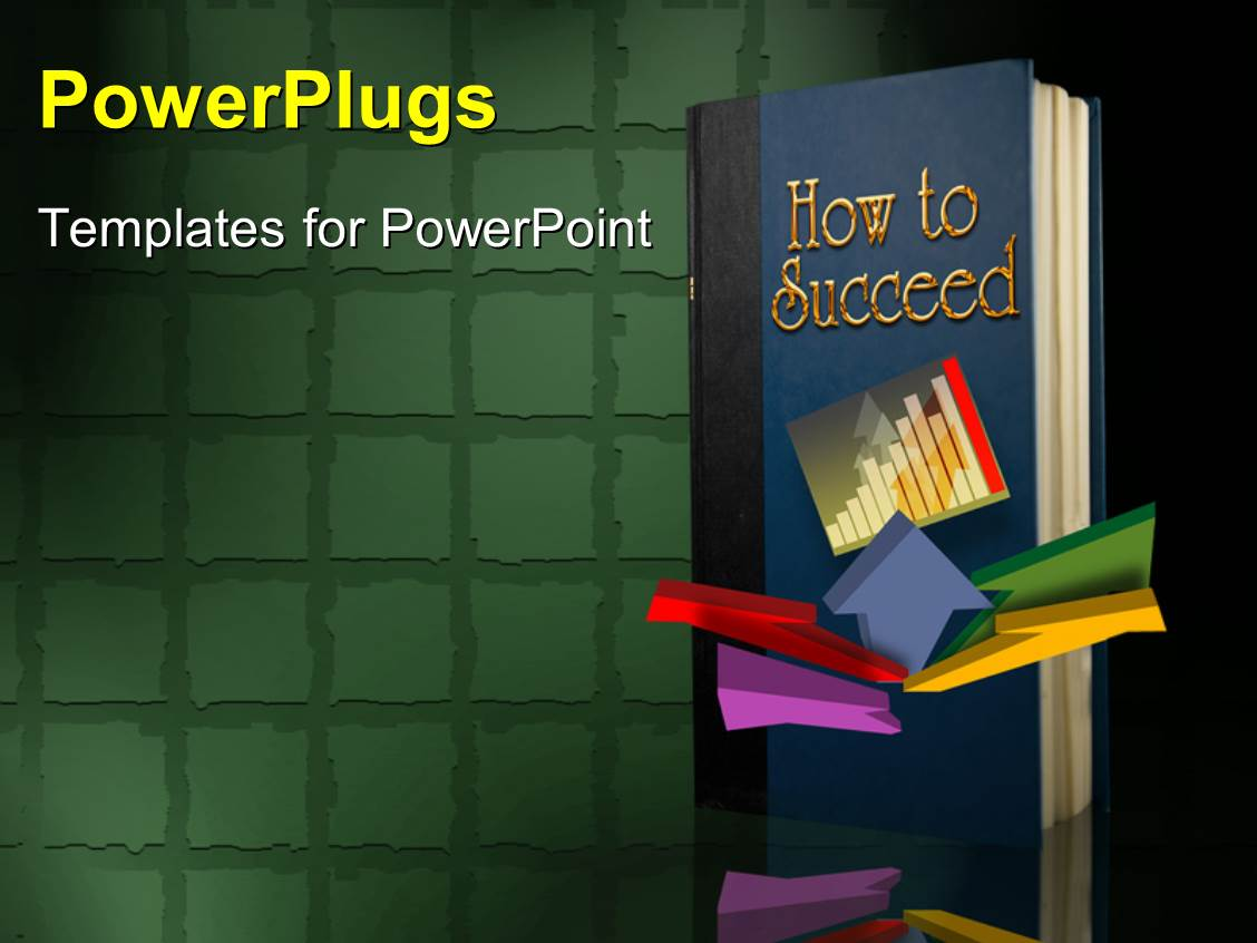 Powerpoint Background Book Cover : Powerpoint template book front cover page with title how