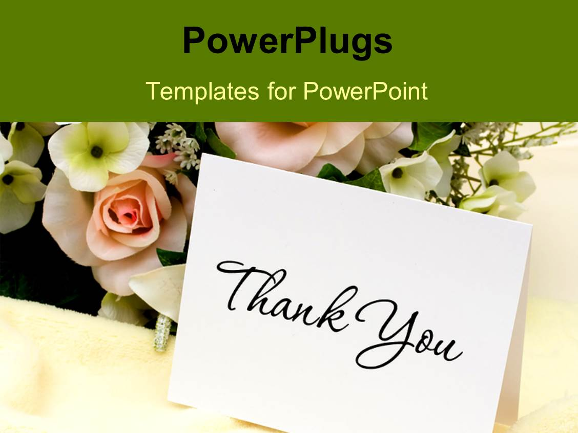 Powerpoint template bouquet of flowers with a thank you card 29332 powerpoint template displaying bouquet of flowers with a thank you card pronofoot35fo Gallery