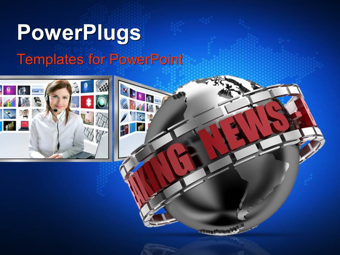 breaking news powerpoint templates | crystalgraphics, Modern powerpoint