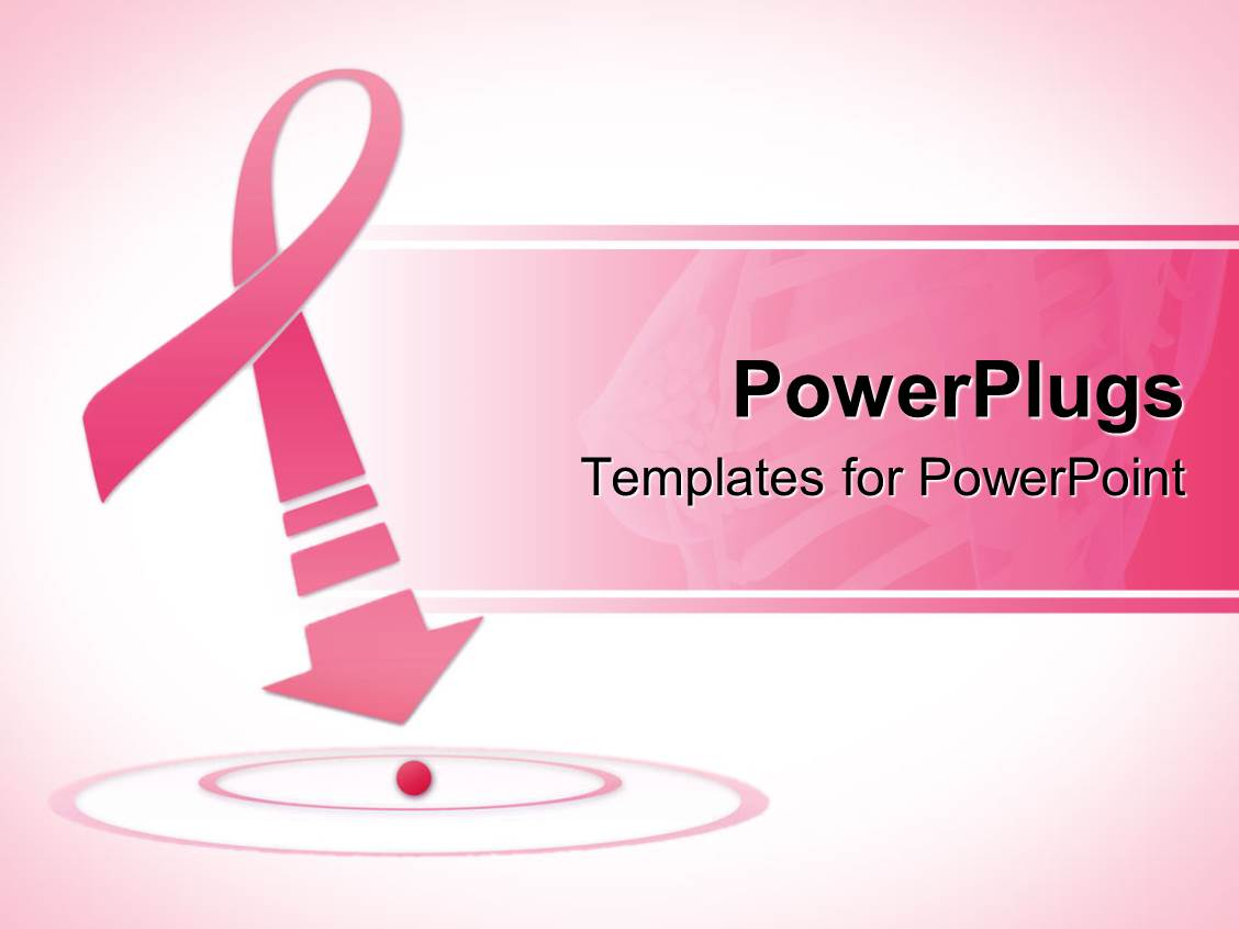 Powerpoint template breast cancer awareness pink ribbon for Breast cancer powerpoint presentation templates