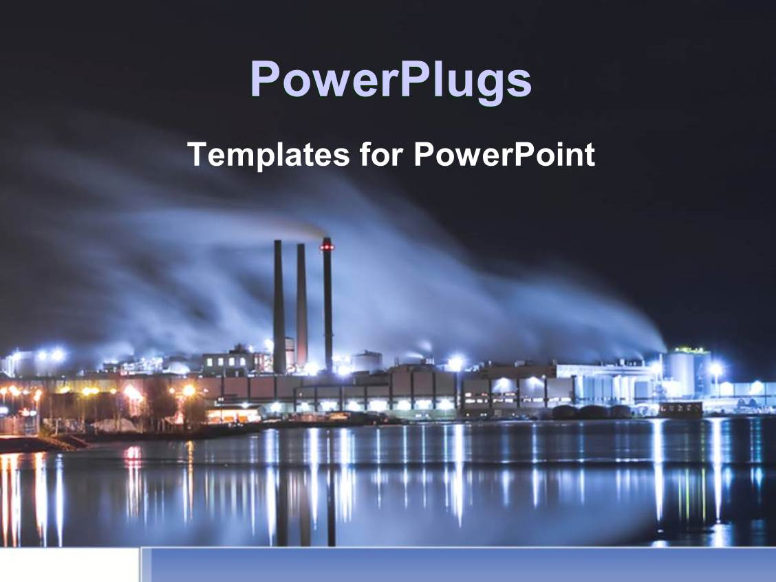 Industrial powerpoint templates gallery templates example free powerpoint template brightly lit industrial district at night 17192 powerpoint template displaying brightly lit industrial district toneelgroepblik Gallery