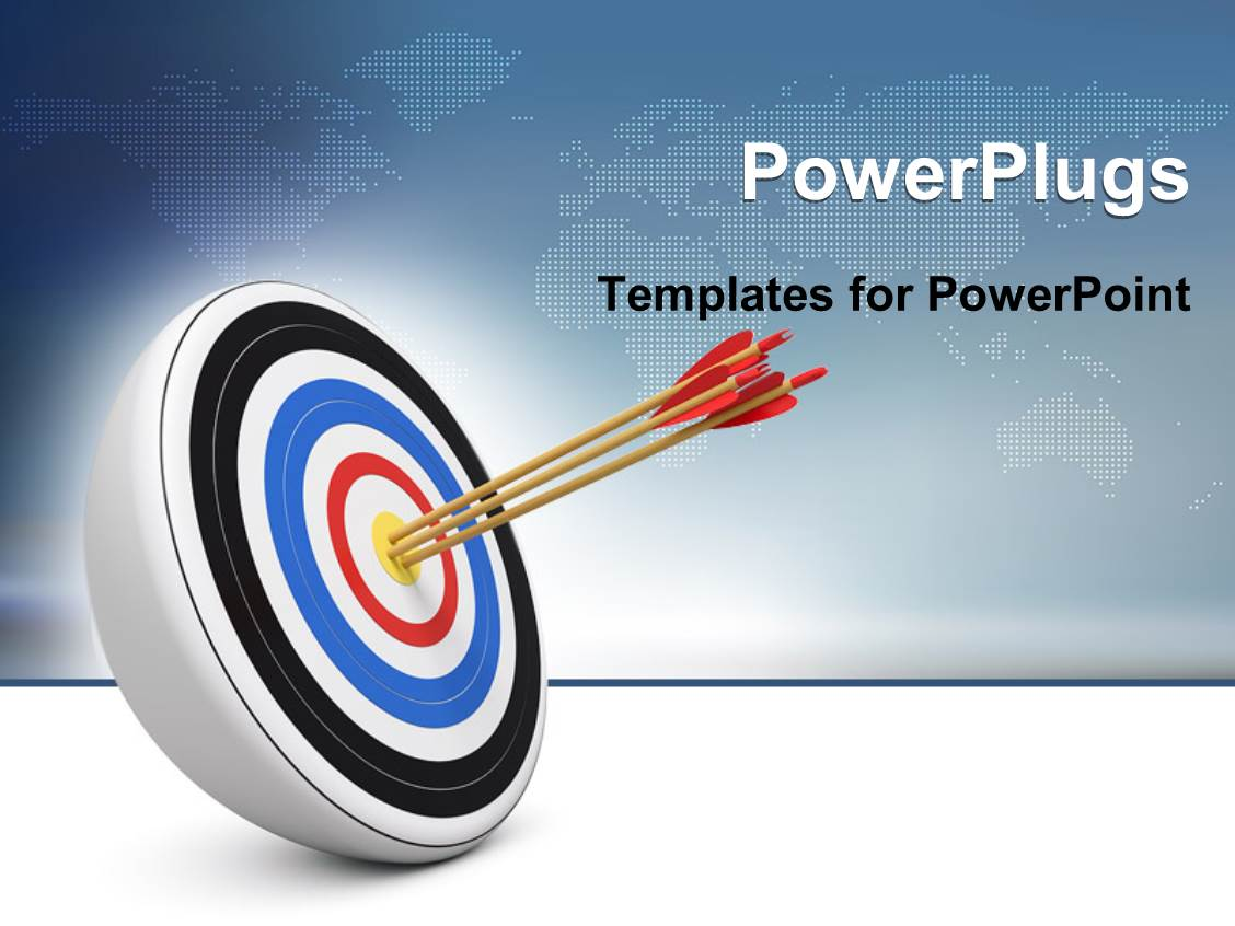 price is right powerpoint template - powerpoint template bull eye three archery arrows hit