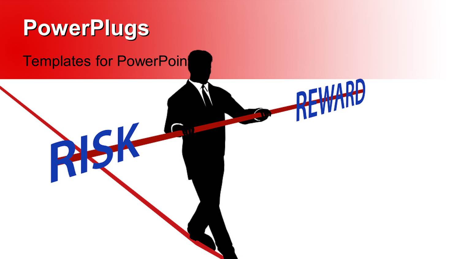 Free powerpoint templates 2529 html free ppt powerpoint templates - Powerplugs Powerpoint Template With A Person Walking On A Dangerous Path