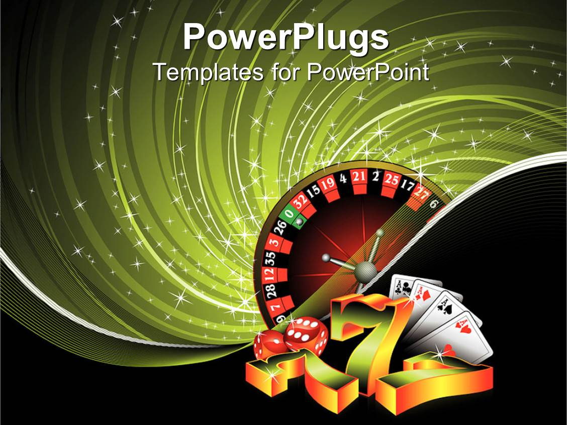 Free powerpoint templates 2529 html free ppt powerpoint templates - Powerplugs Powerpoint Template With Casino Items Four Aces Poker Ace Cards