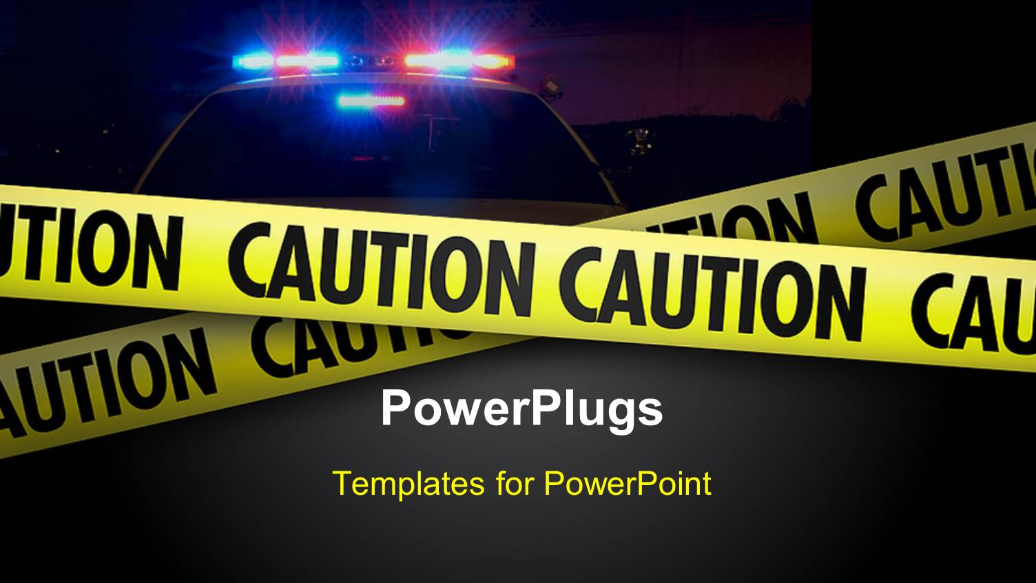 Crime powerpoint templates crystalgraphics powerplugs powerpoint template with a representation of a crime scene displaying yellow caution tape toneelgroepblik Choice Image