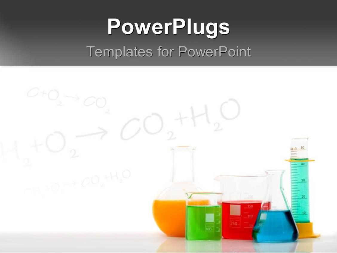 powerpoint template chemical equations on chalkboard with